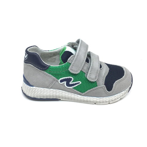 Naturino Gray and Green Sneaker