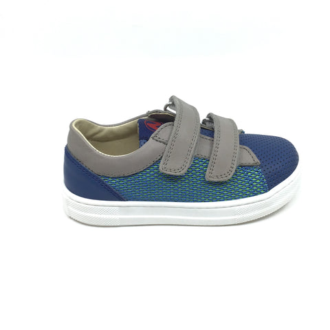 Naturino Blue and Gray Textured Sneaker
