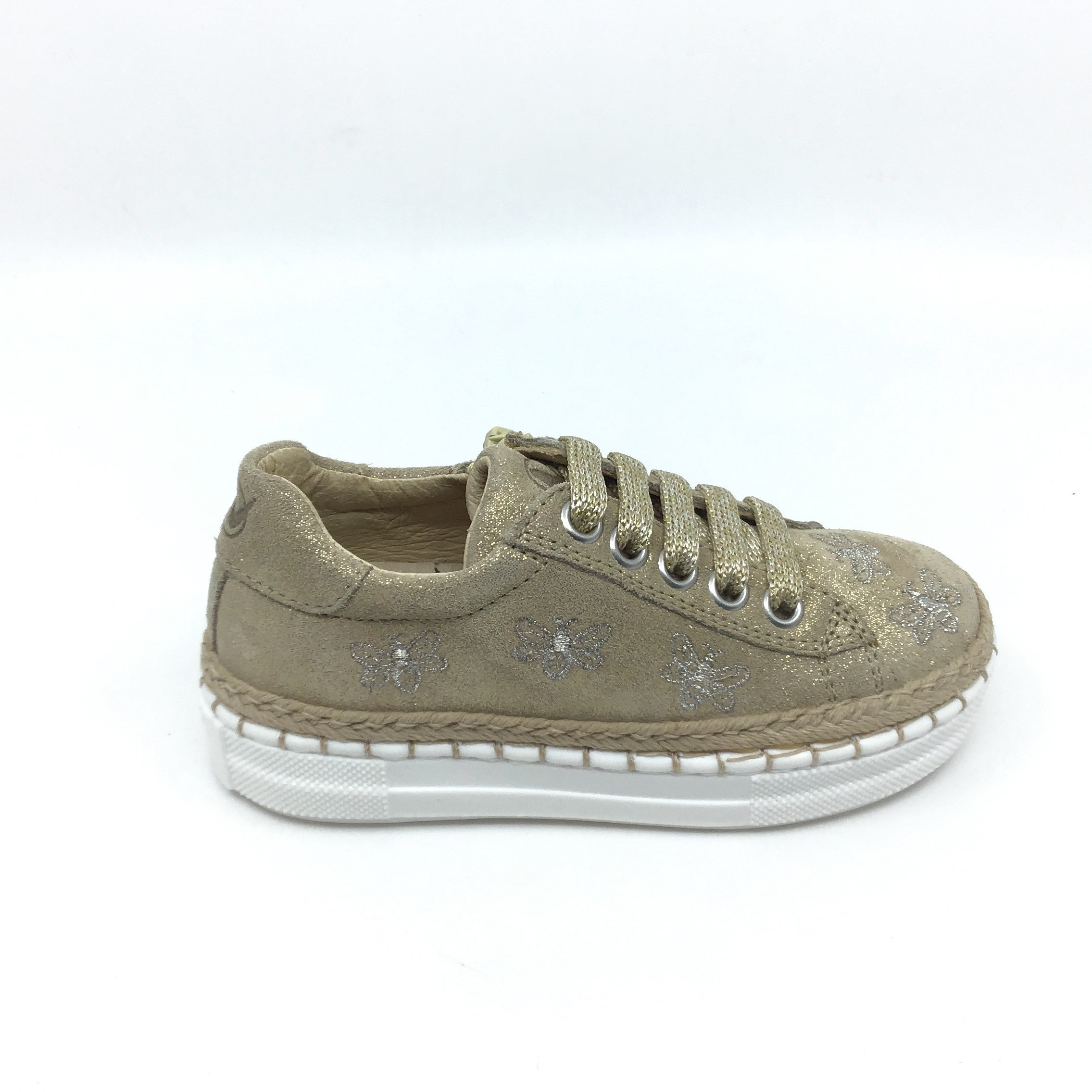 Naturino Gold Sneaker with Bee Design