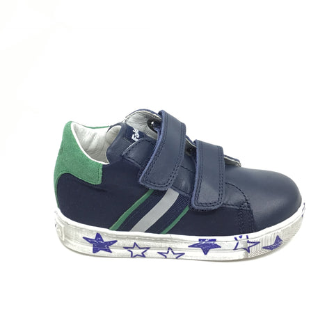 Falcotto Navy Sneaker with Stars on Sole