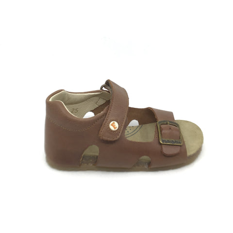 Falcotto Brown Sandal with Velcro and Buckle
