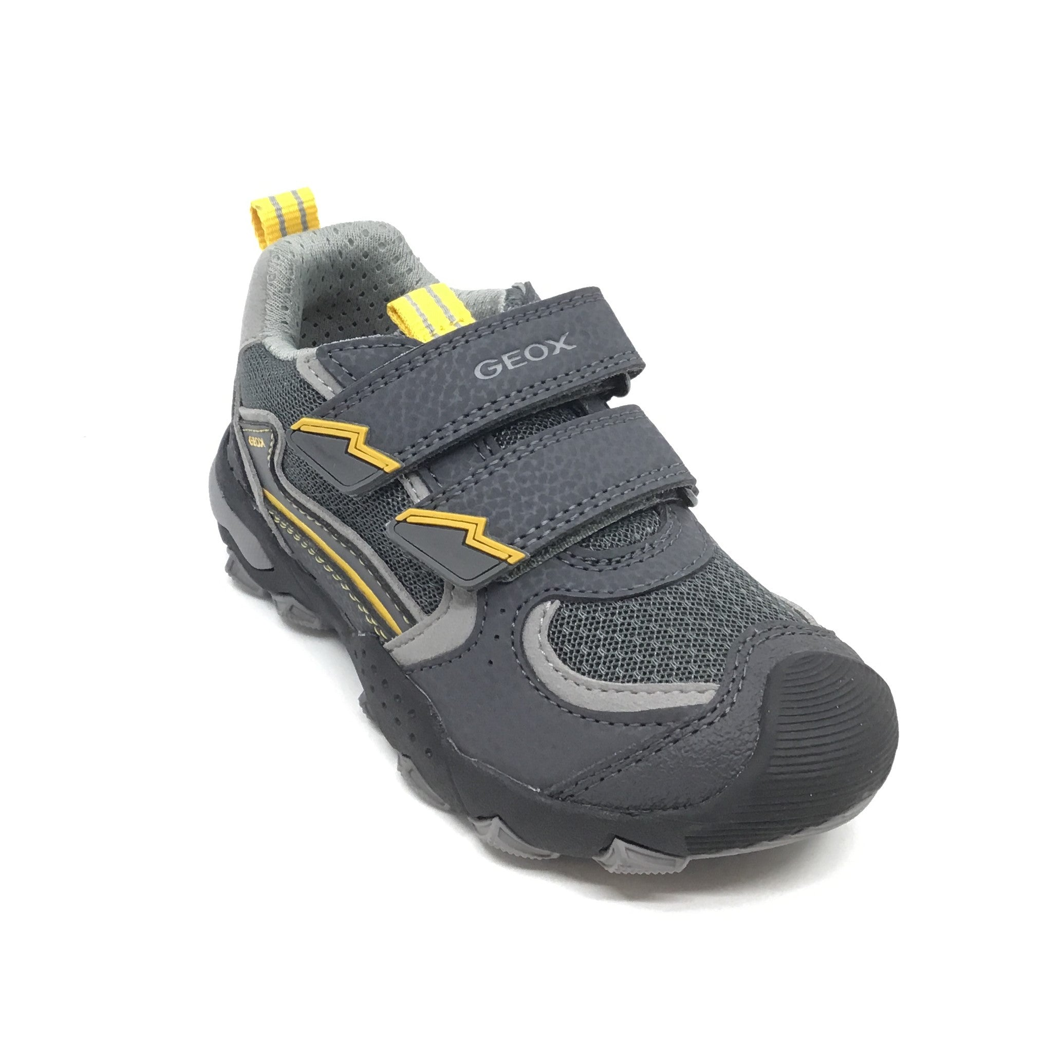 Geox Gray Sneaker with Yellow Trim