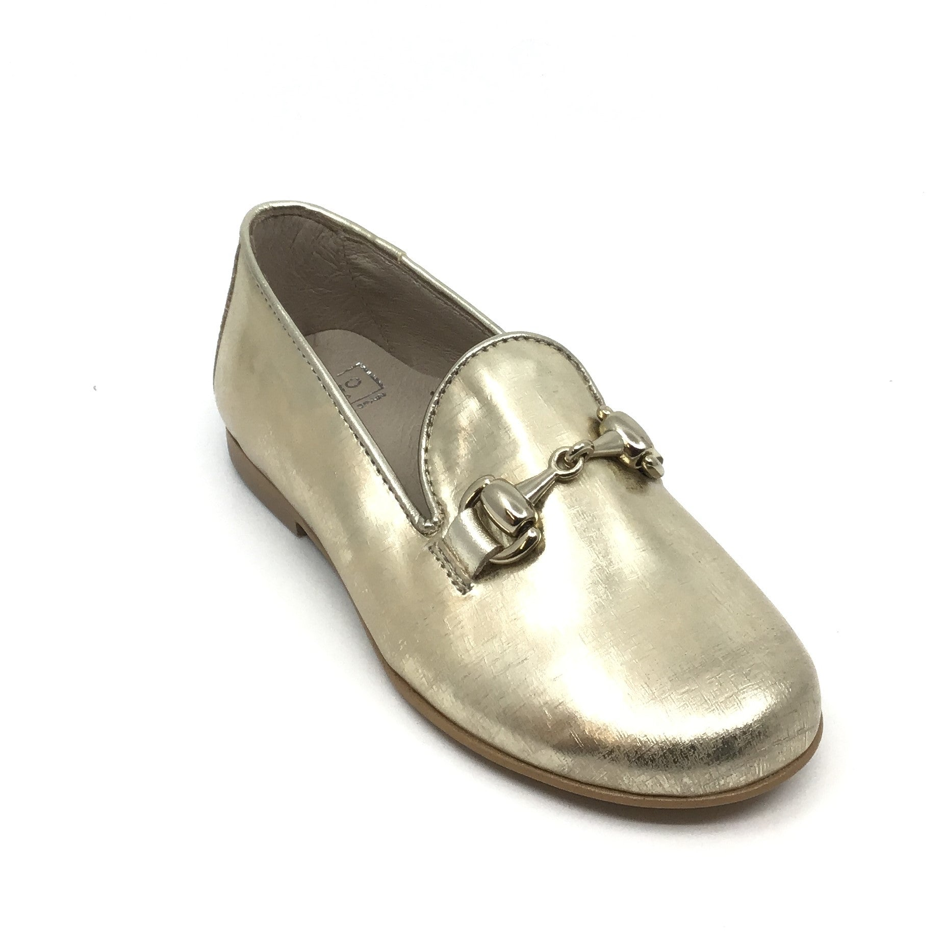 Hoo Gold Print Slip On with Chain