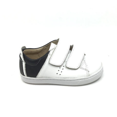 Old Soles White and Black Double Velcro Sneaker
