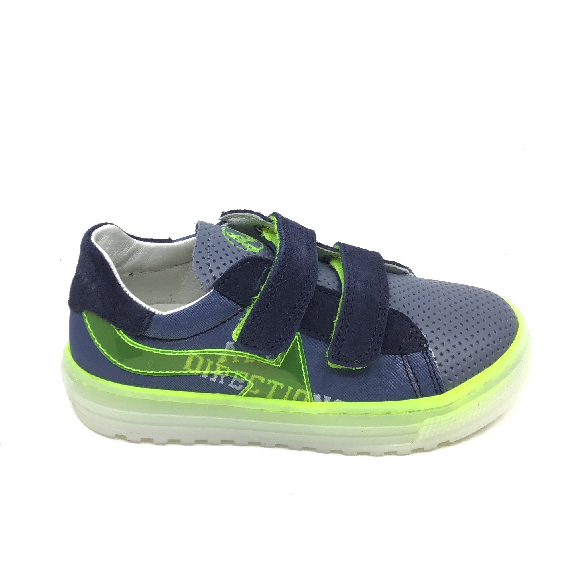Naturino Blue Sneaker with Yellow Arrow