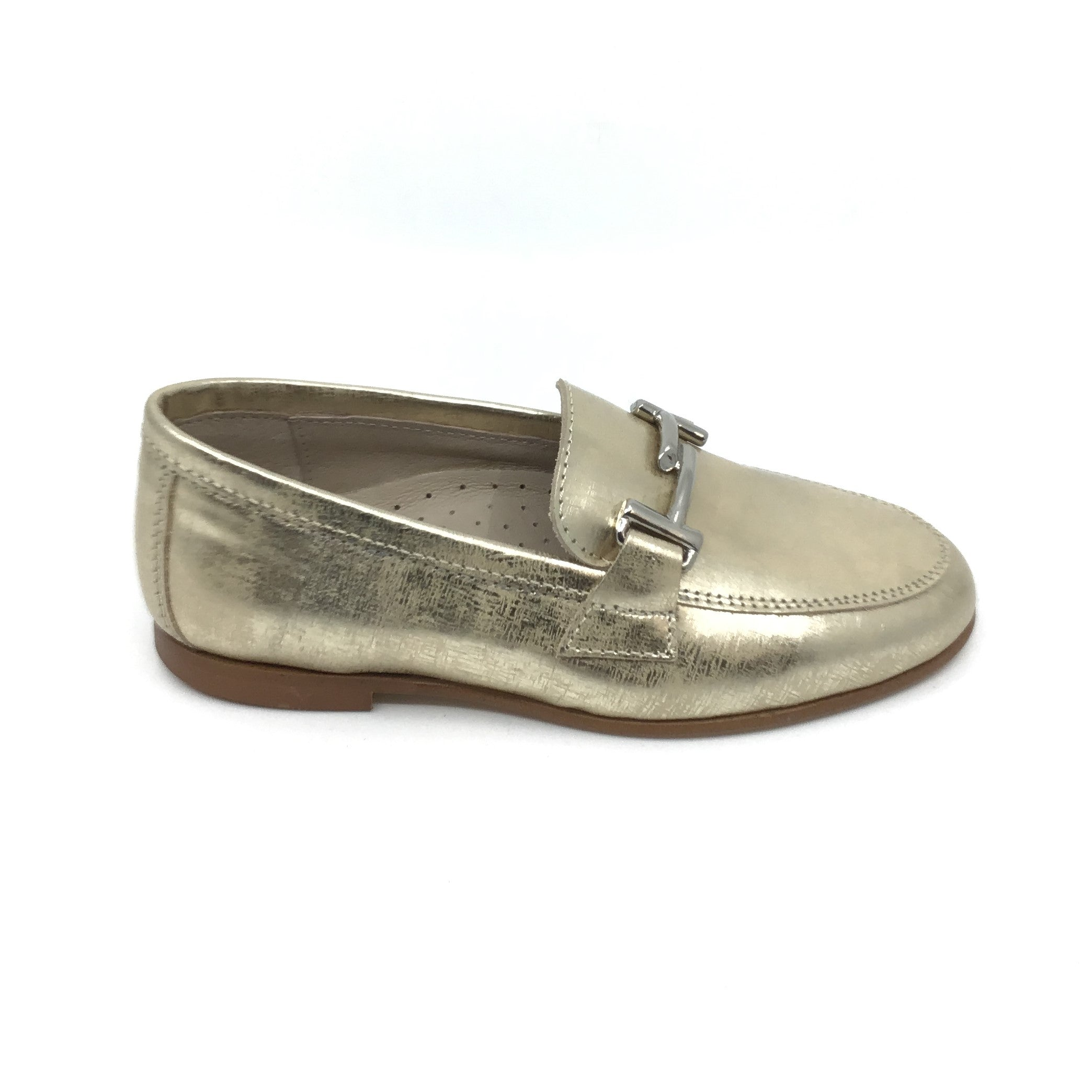 Hoo Gold Print Slip-on with Stitching