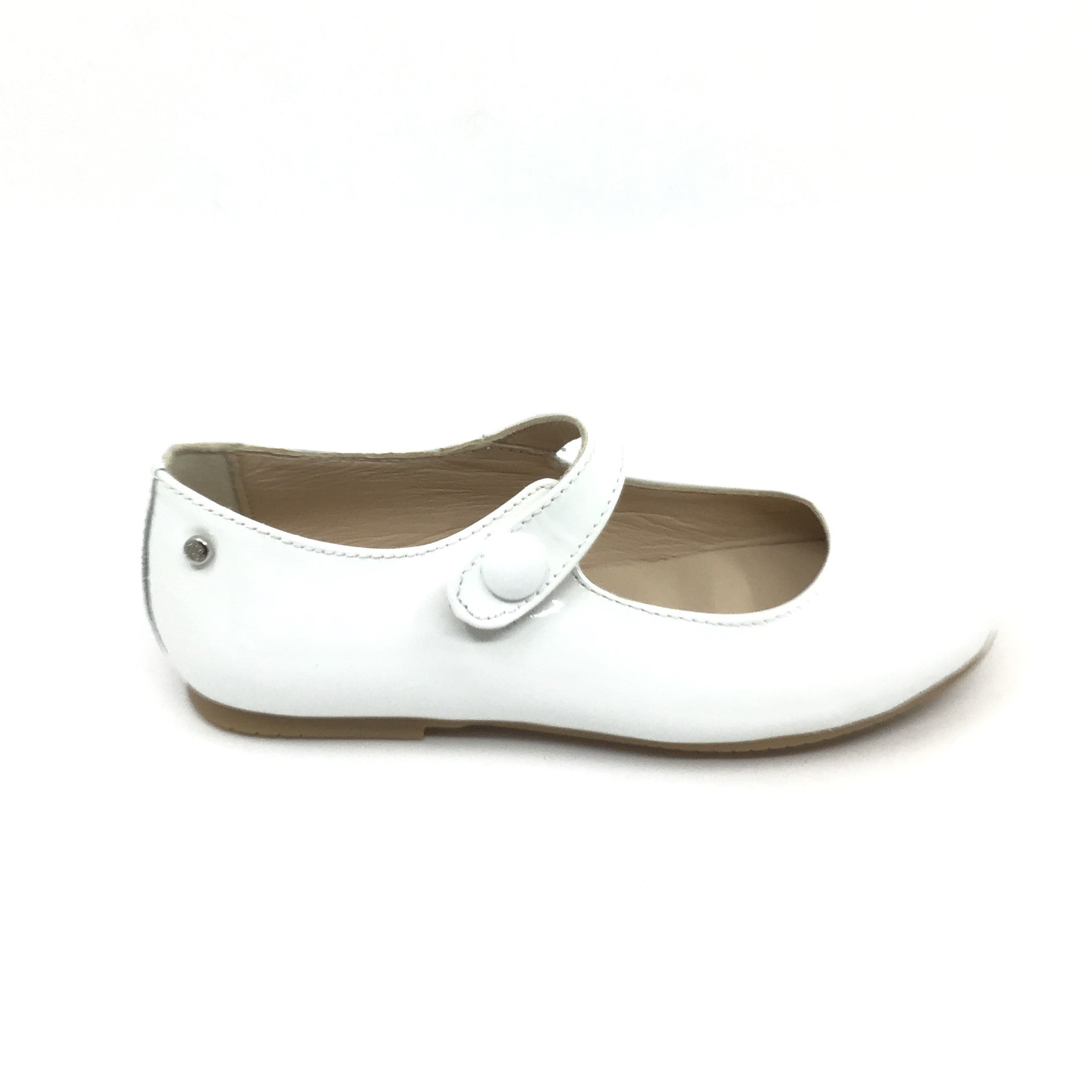 Manuela White Patent Mary Jane