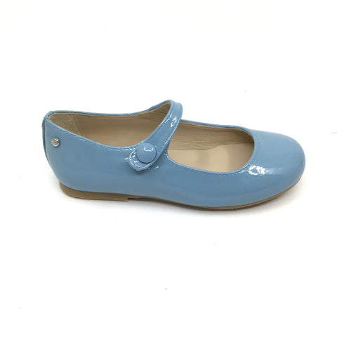 Manuela Light Blue Patent Mary Jane