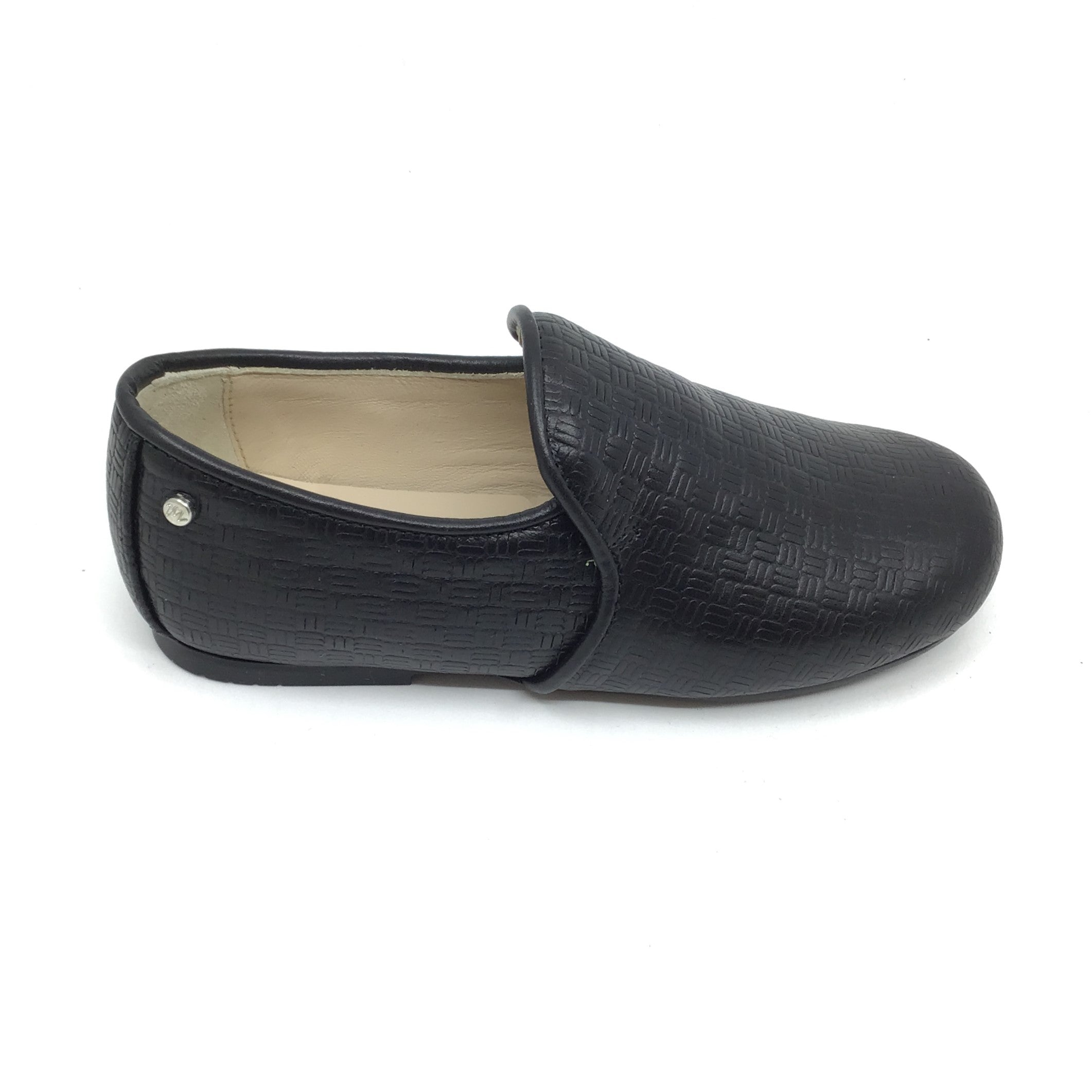 Manuela Black Textured Shoe