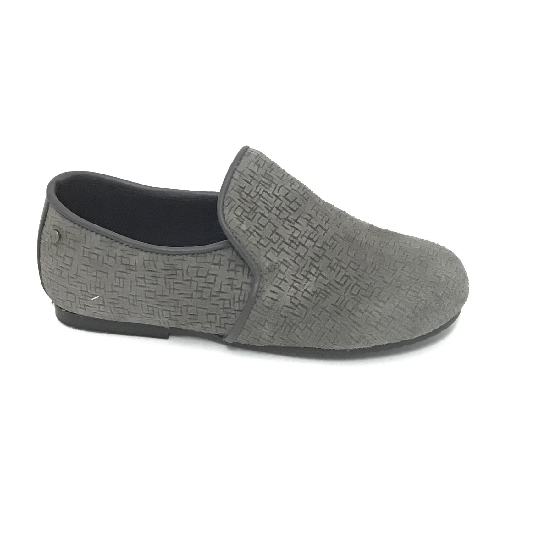 Manuela de Juan Gray Textured Slip On
