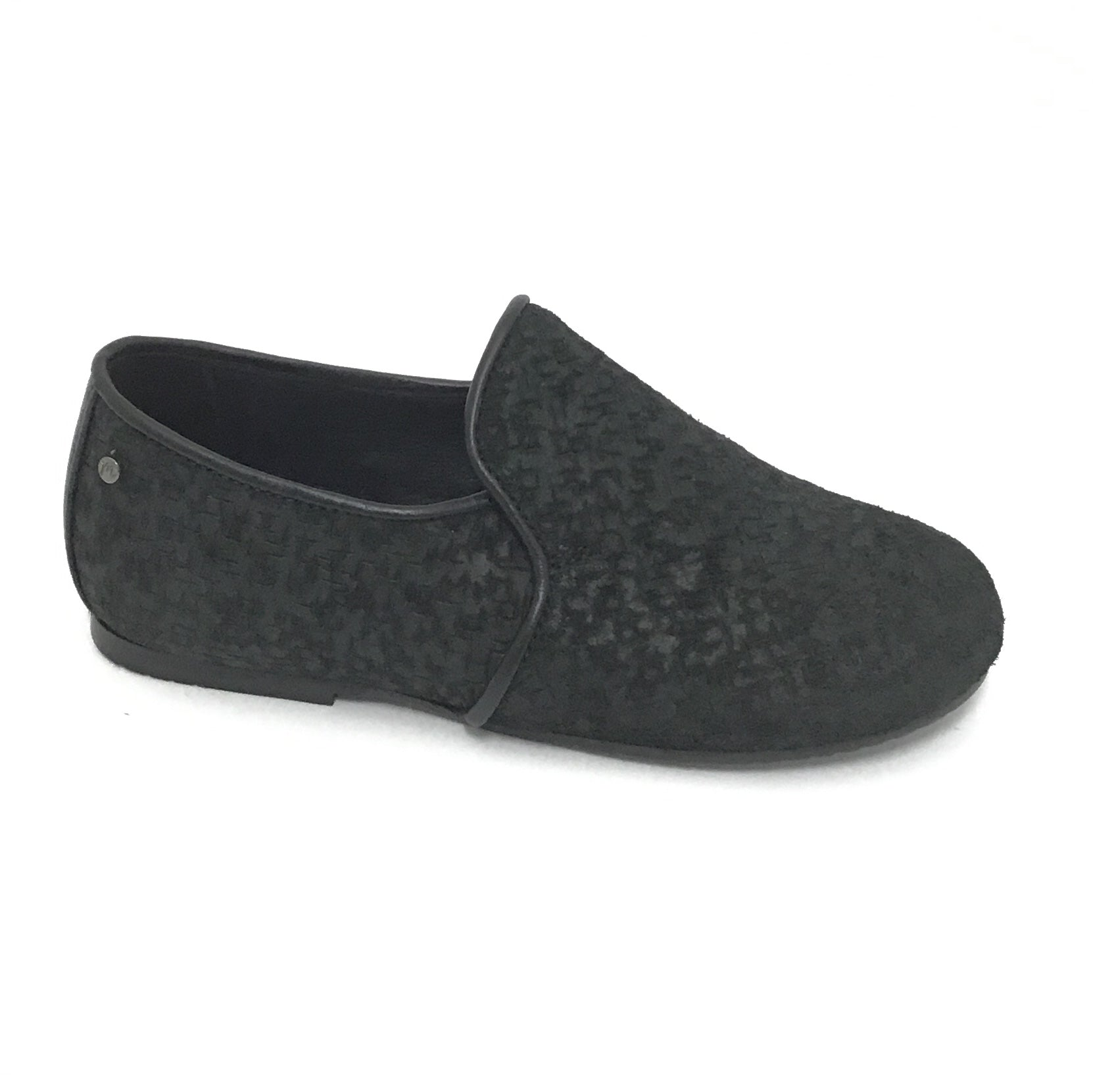 Manuela de Juan Black Velvet Etched Slip On