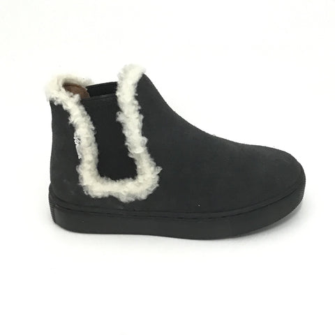 Venettini Gray Suede Boot with Wool