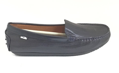 Venettini Navy Loafer With Pattern