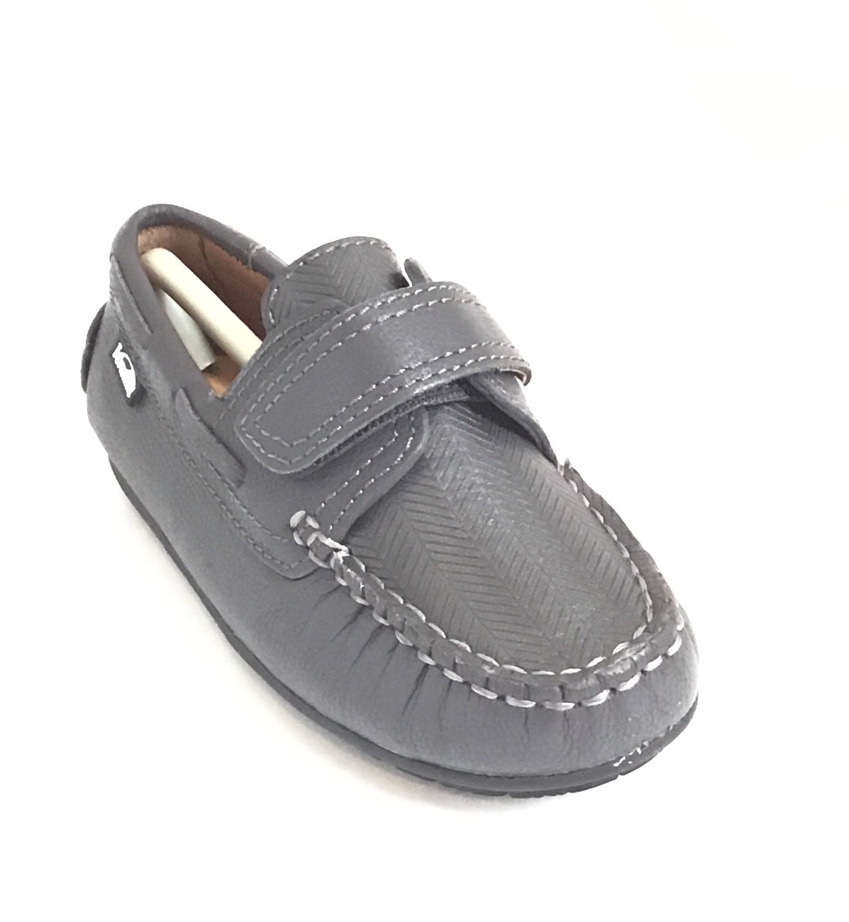 Venettini Gray Velcro Loafer
