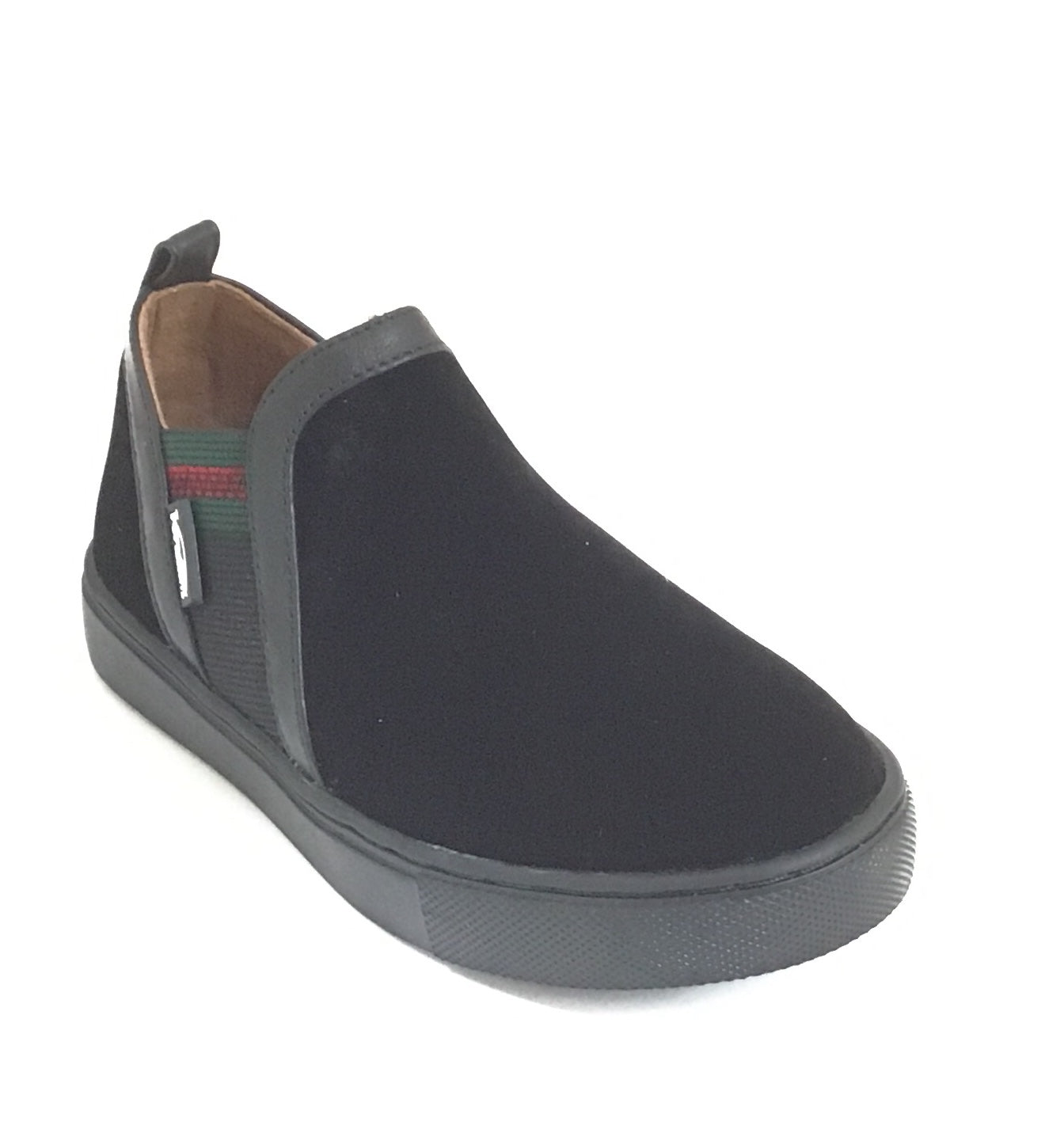 Venettini Black Suede Slip On Shoe