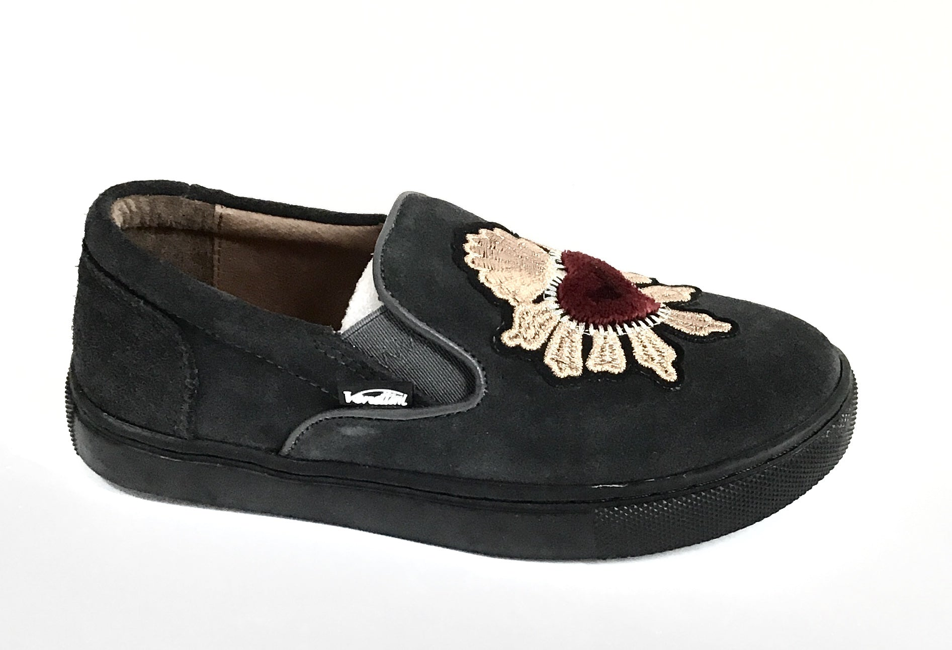 Venettini Gray Suede Slip On with Heart