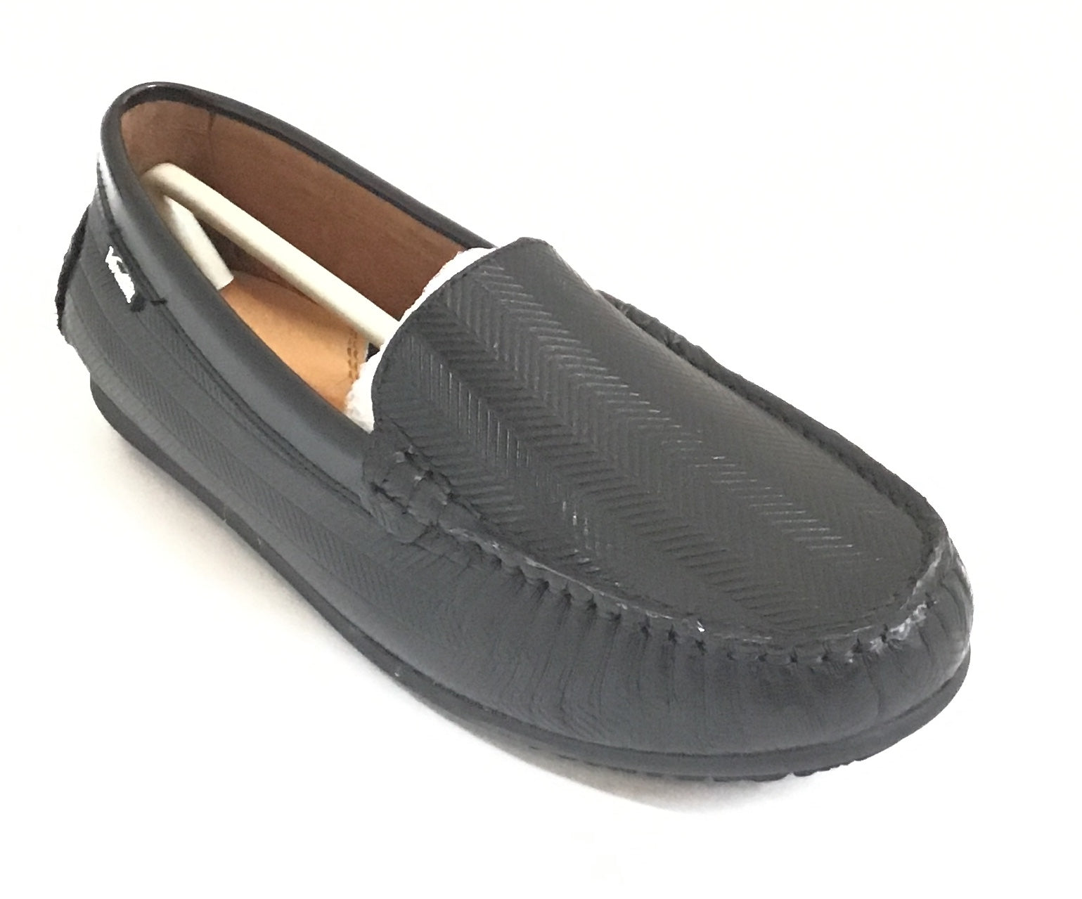 Venettini Black Loafer With Pattern
