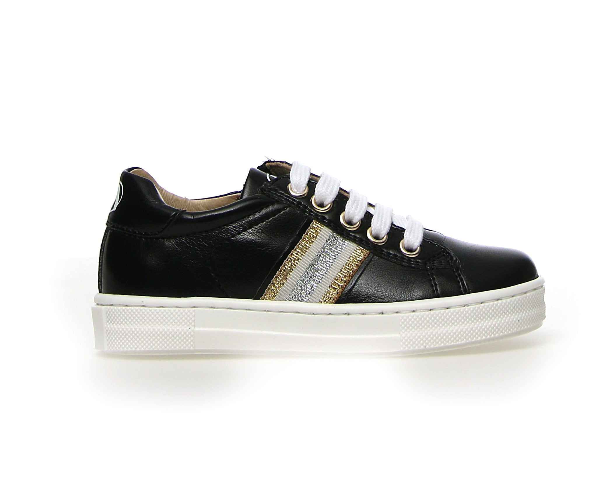 Naturino Black Lace Sneaker with Zipper