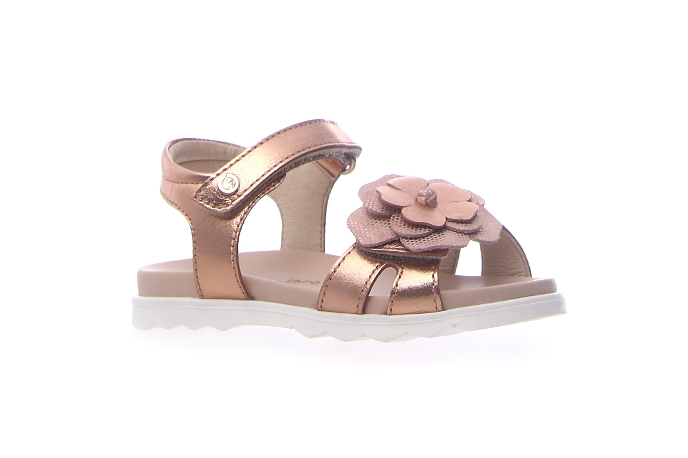 Naturino Rose Gold Sandal with Flower
