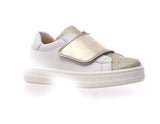 Naturino White and Gold Sneaker with Gold Strap