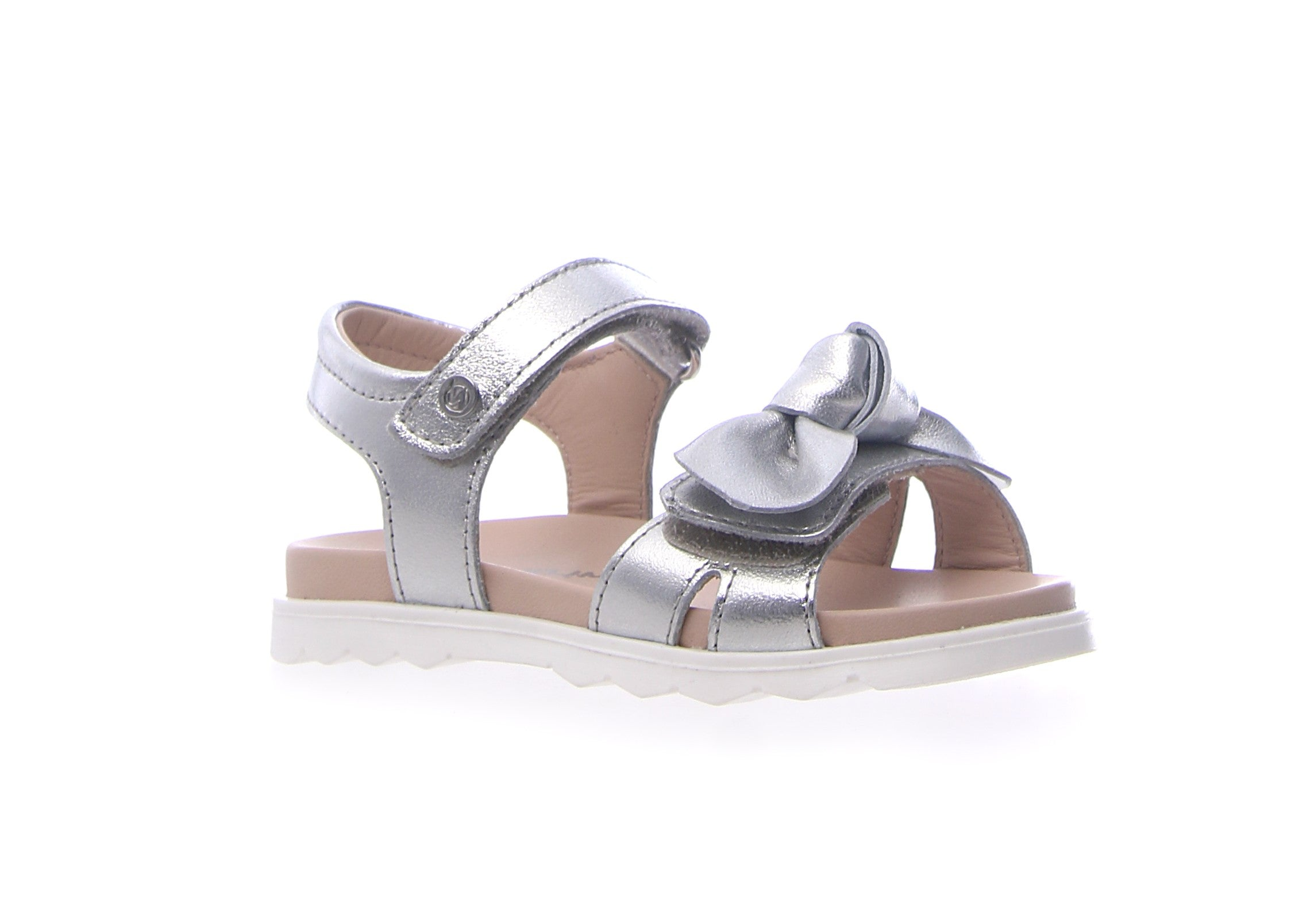 Naturino Silver Sandal with Bow
