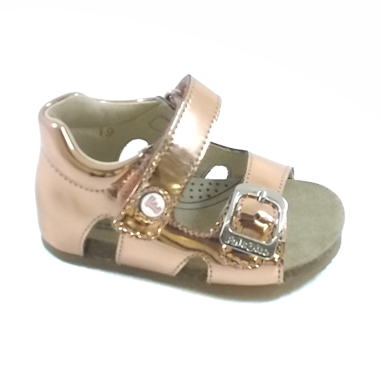 Falcotto Pink Sandal with Velcro and Buckle