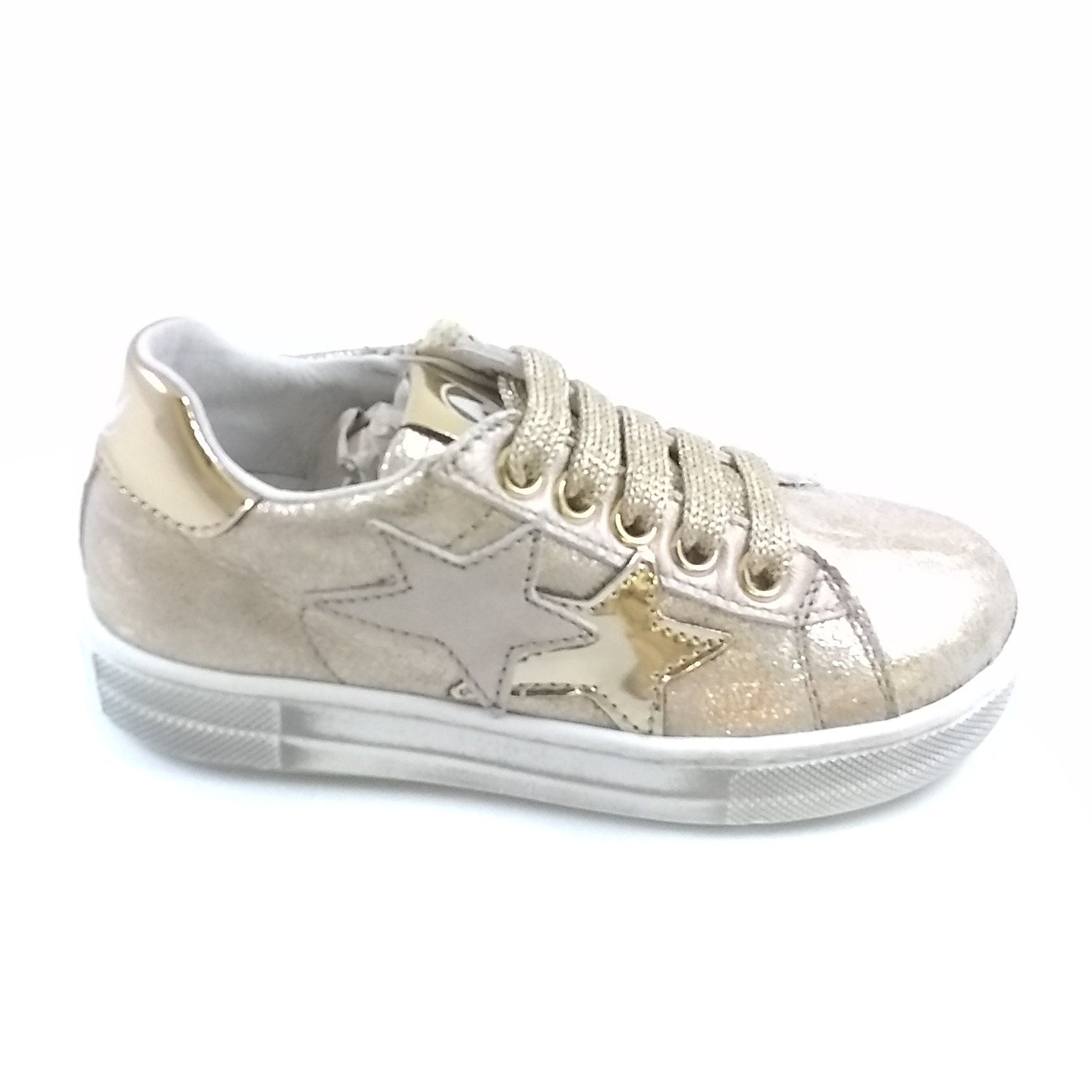 Naturino Gold Lace Up Sneaker