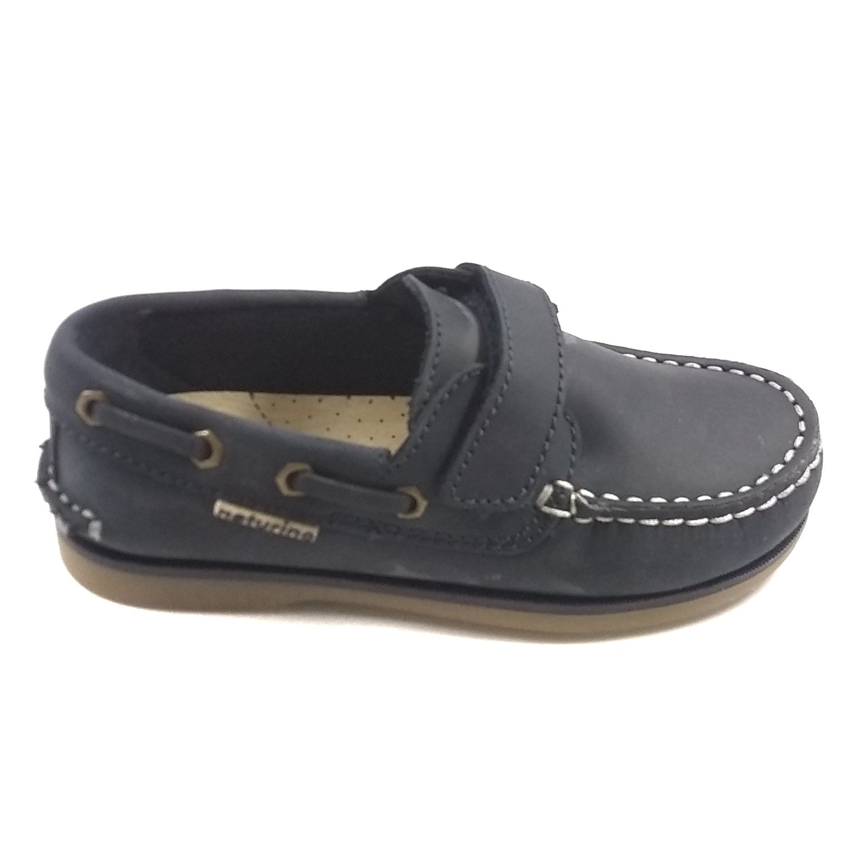 Naturino Blue Boat Shoe with Velcro Strap
