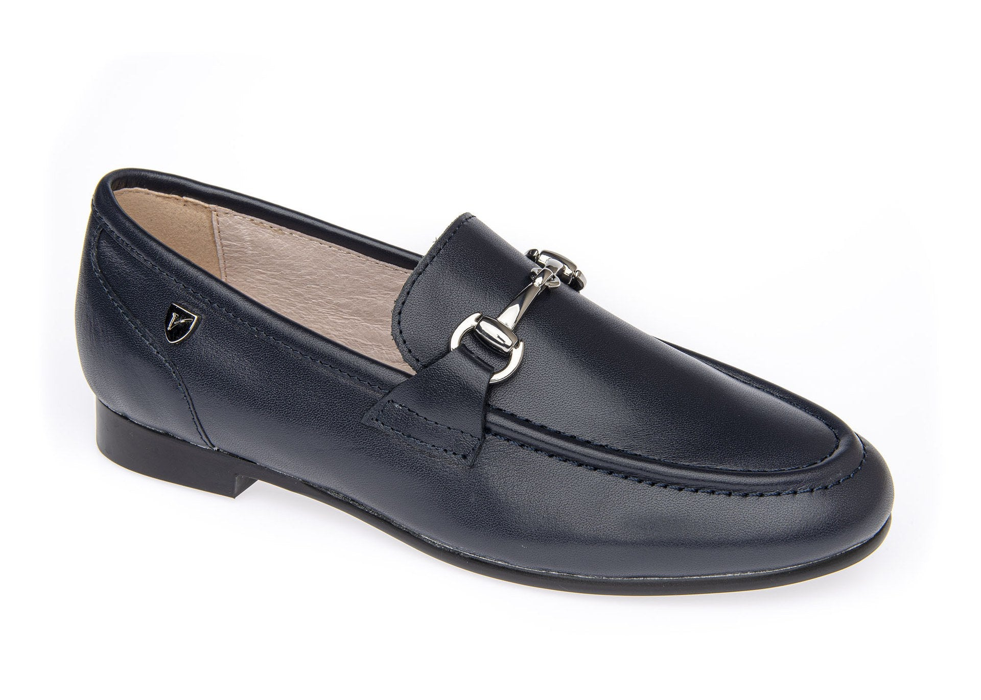 Venettini Navy Loafer with Chain