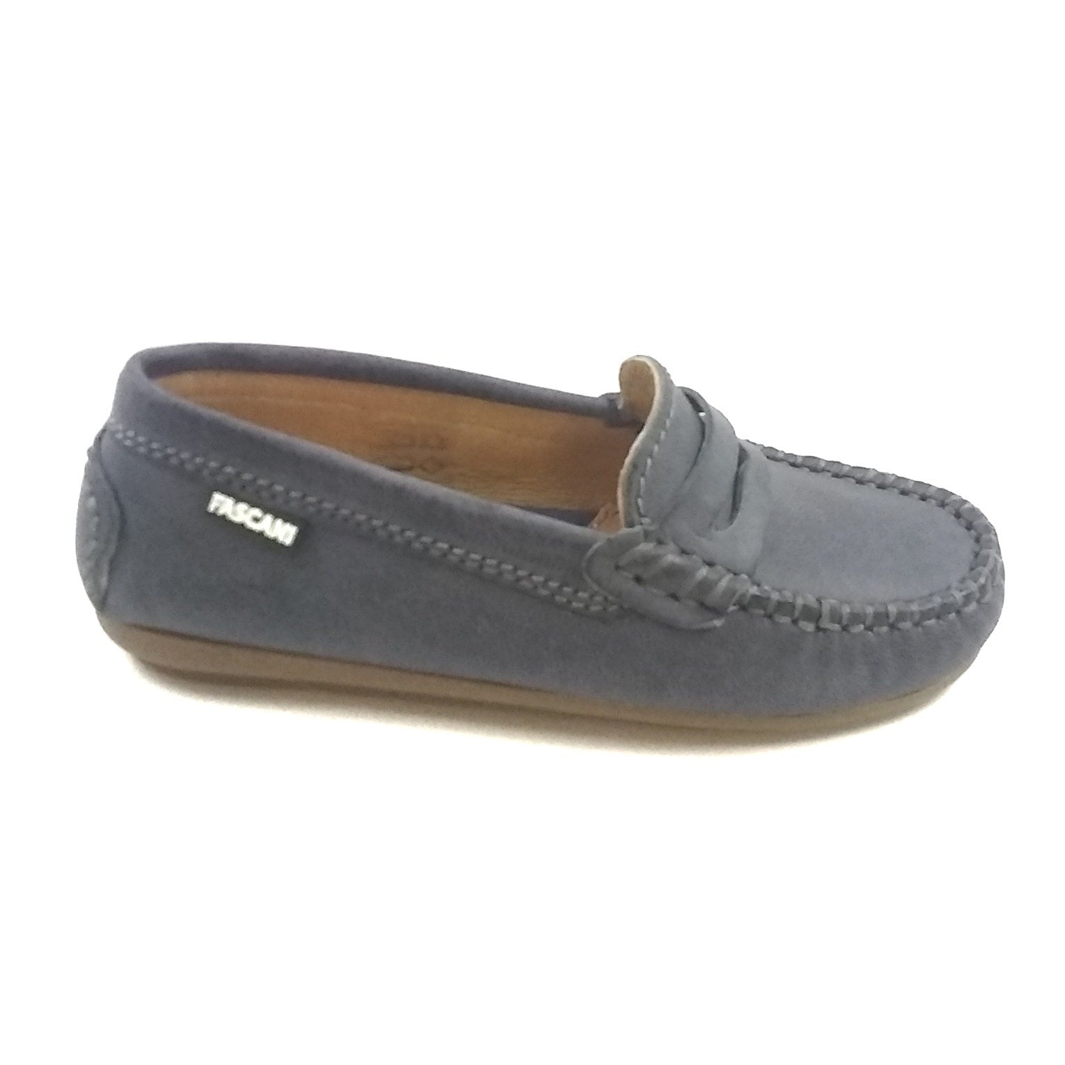 Fascani Gray Penny Loafer