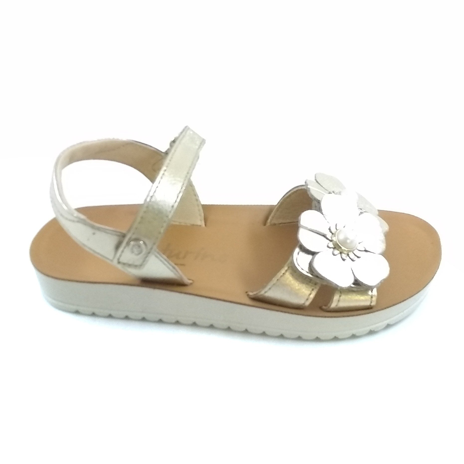 Naturino Gold Sandal With Flower