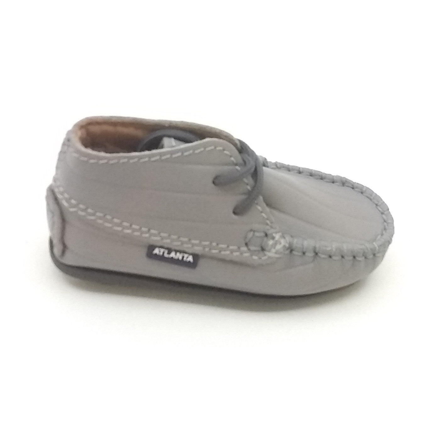 Atlanta Mocassin Gray Laceup First Shoe