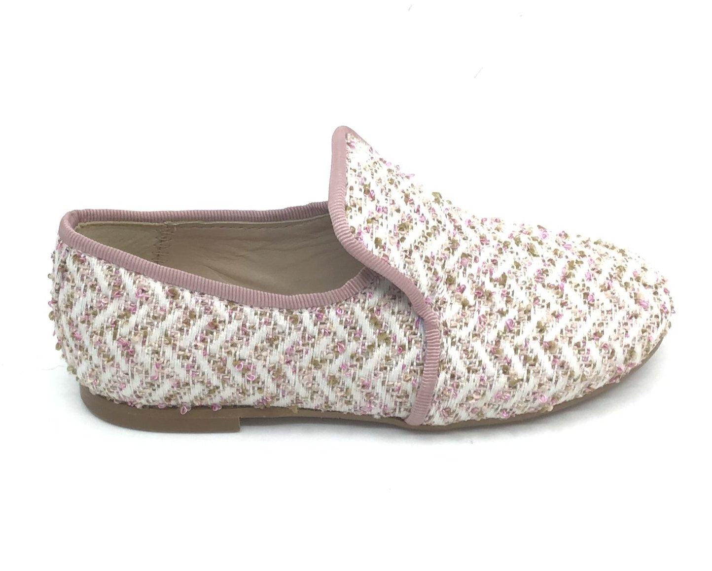 Papanatas Rose/Multi Color Weave Loafer