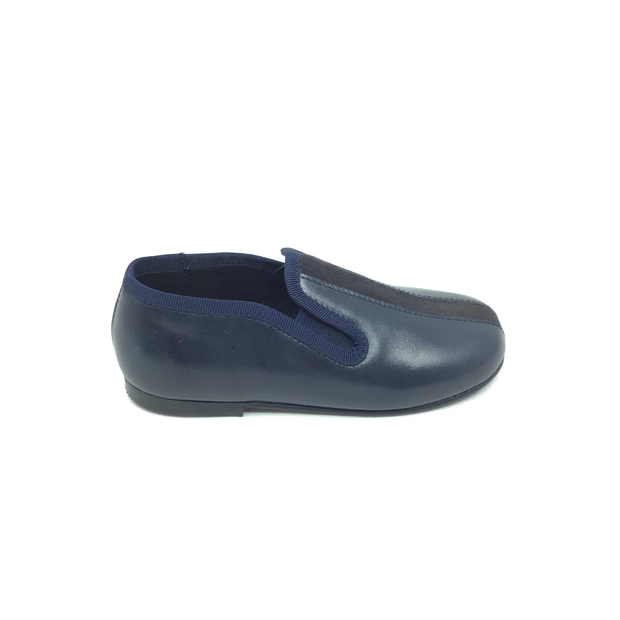 Luccini Blue Slip On with Navy Suede Center
