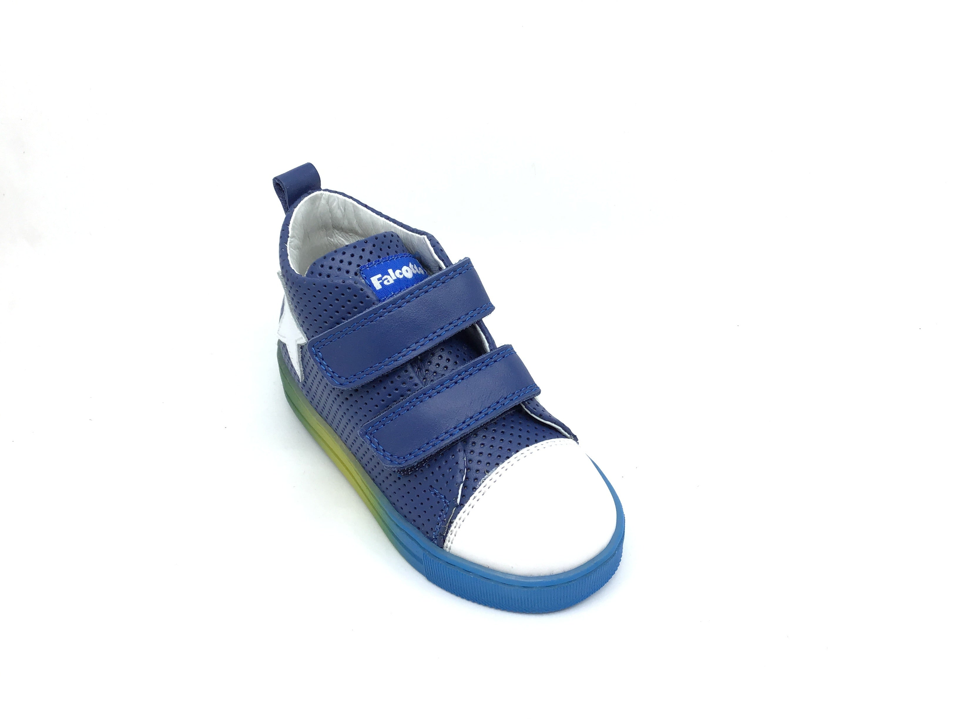Falcotto Blue Perf Sneaker with Star
