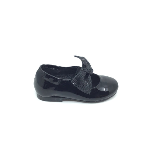 Luccini Black Patent Mary Jane with Bow