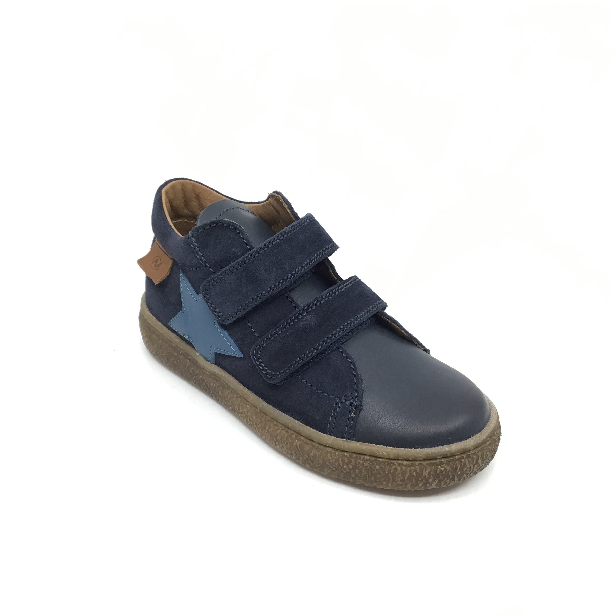 Naturino Velcro Blue Sneaker with Star