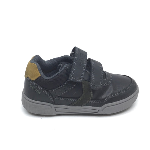 Geox Velcro Black and Gray Sneaker