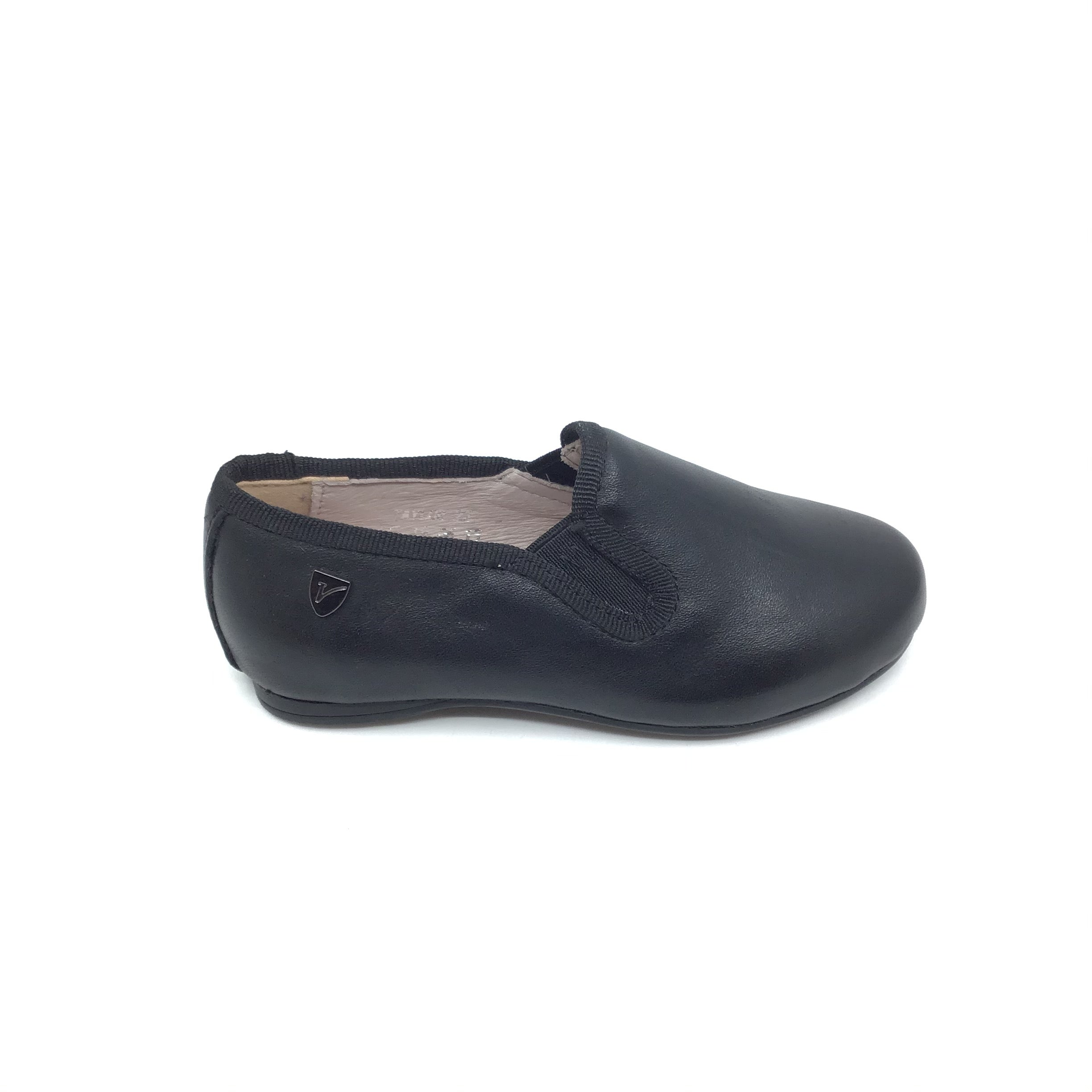 Venettini Black Leather Slip On
