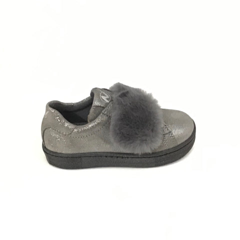 Naturino Gray Sparkle with Fur Strap