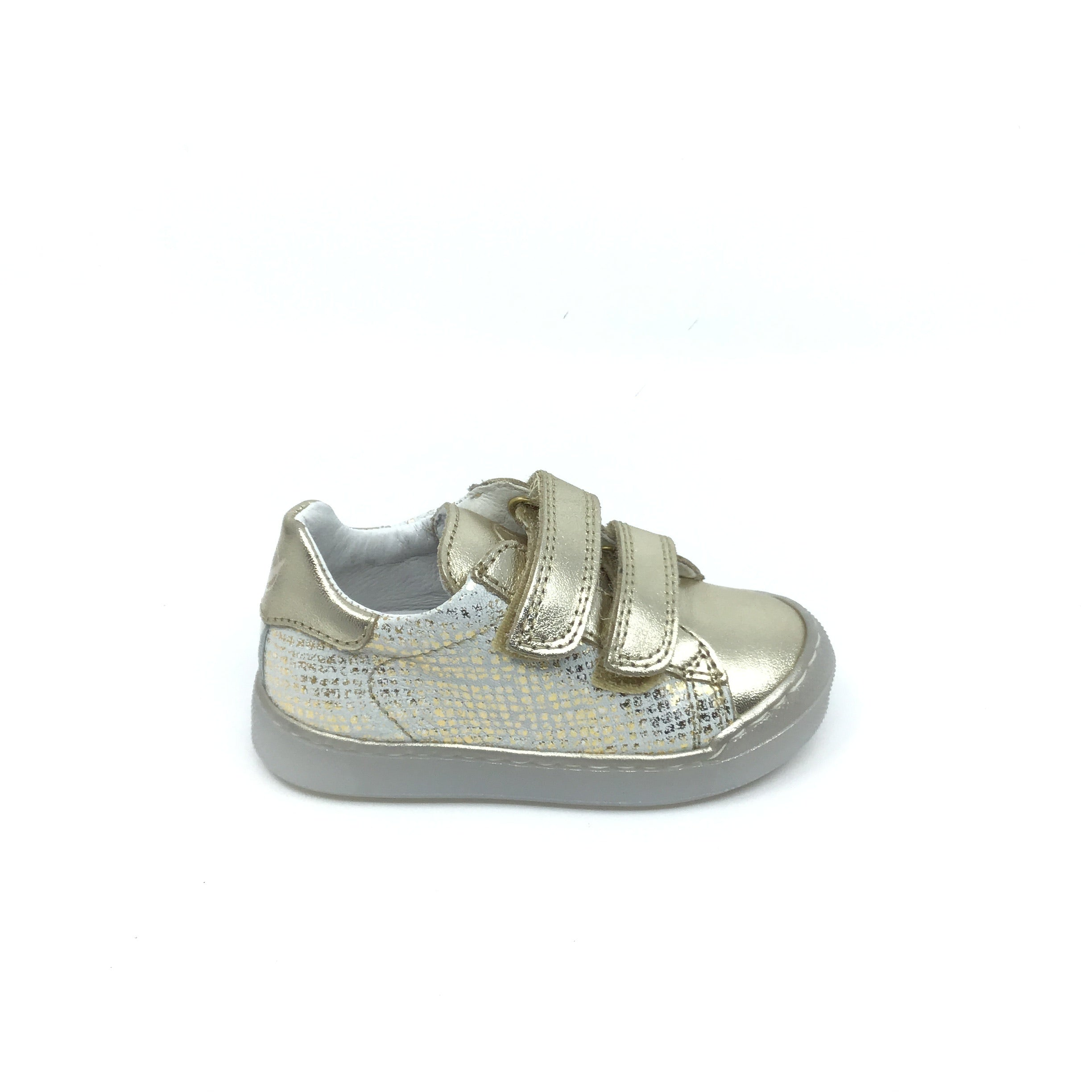 Naturino Gold Double Velcro Sneaker with Print