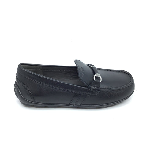 Geox Black Chain Loafer