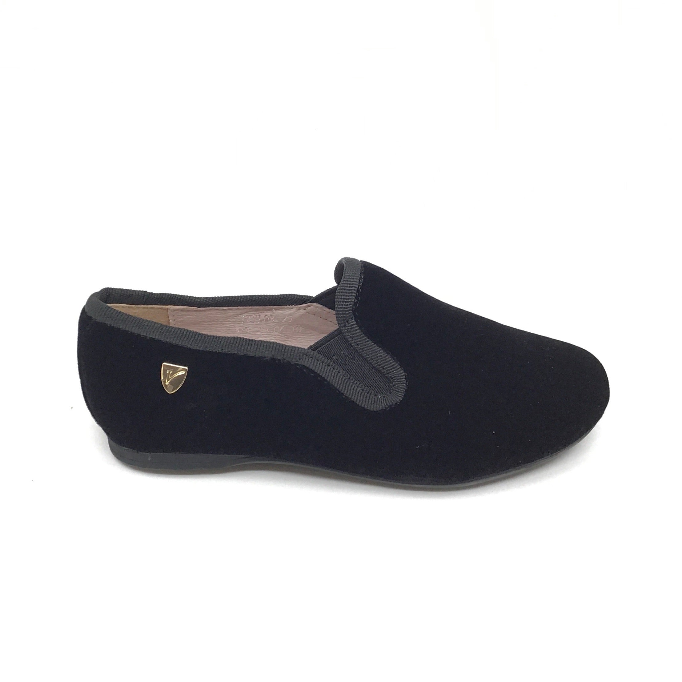 Venettini Black Velvet Slip On