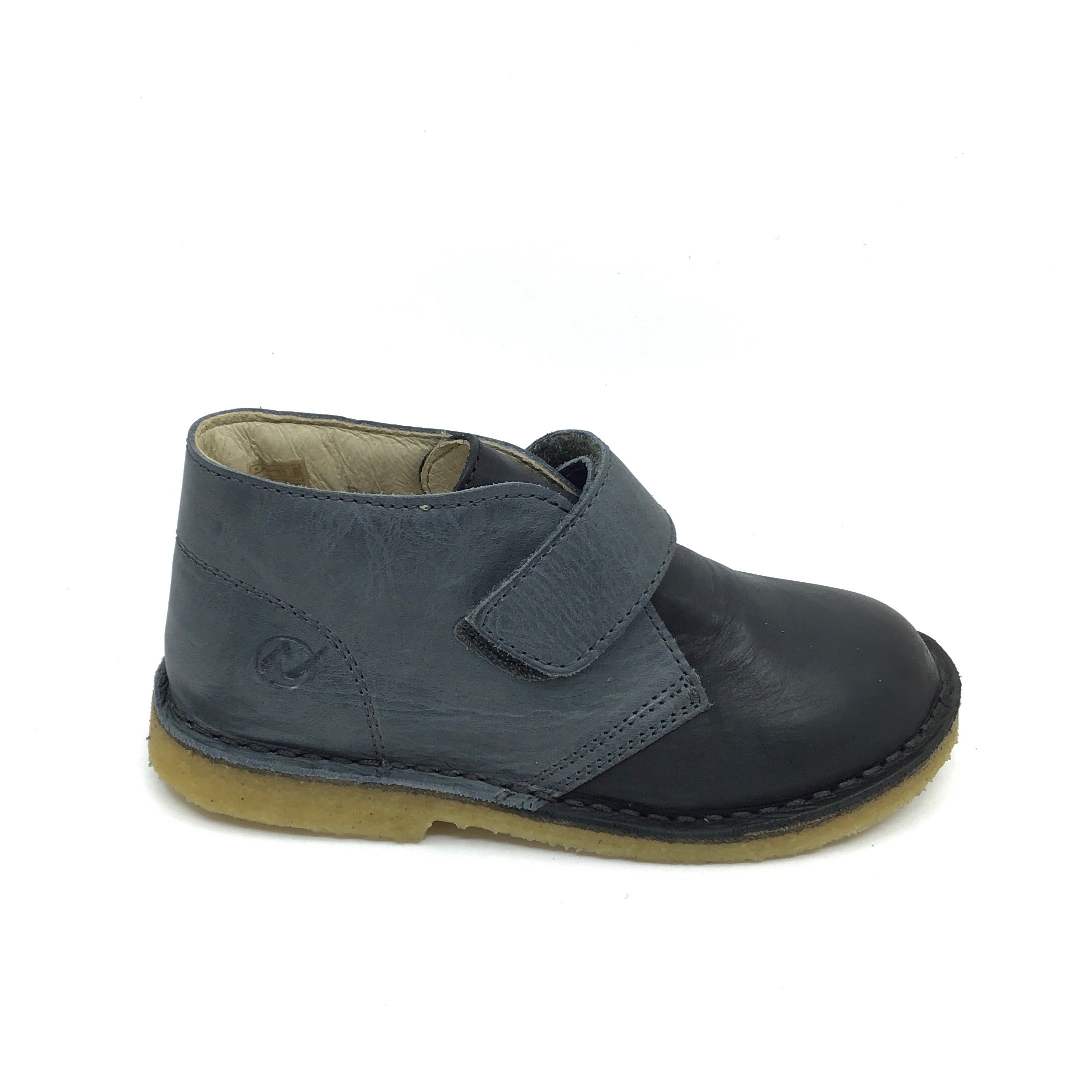 Naturino Velcro Gray Shoe with Black Front