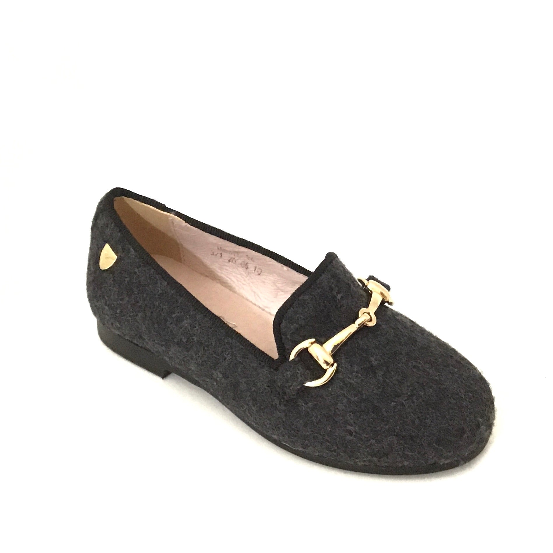Venettini Gray Wool Slip On with Chain
