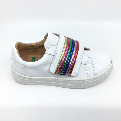Fascani White Sneaker with Rainbow Strap