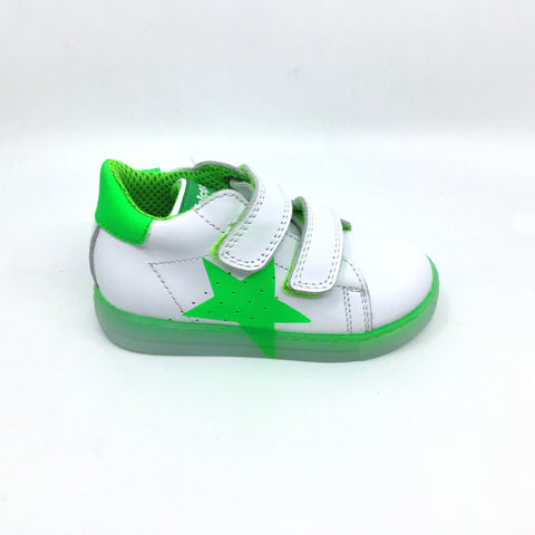 Falcotto White Sneaker with Green Star