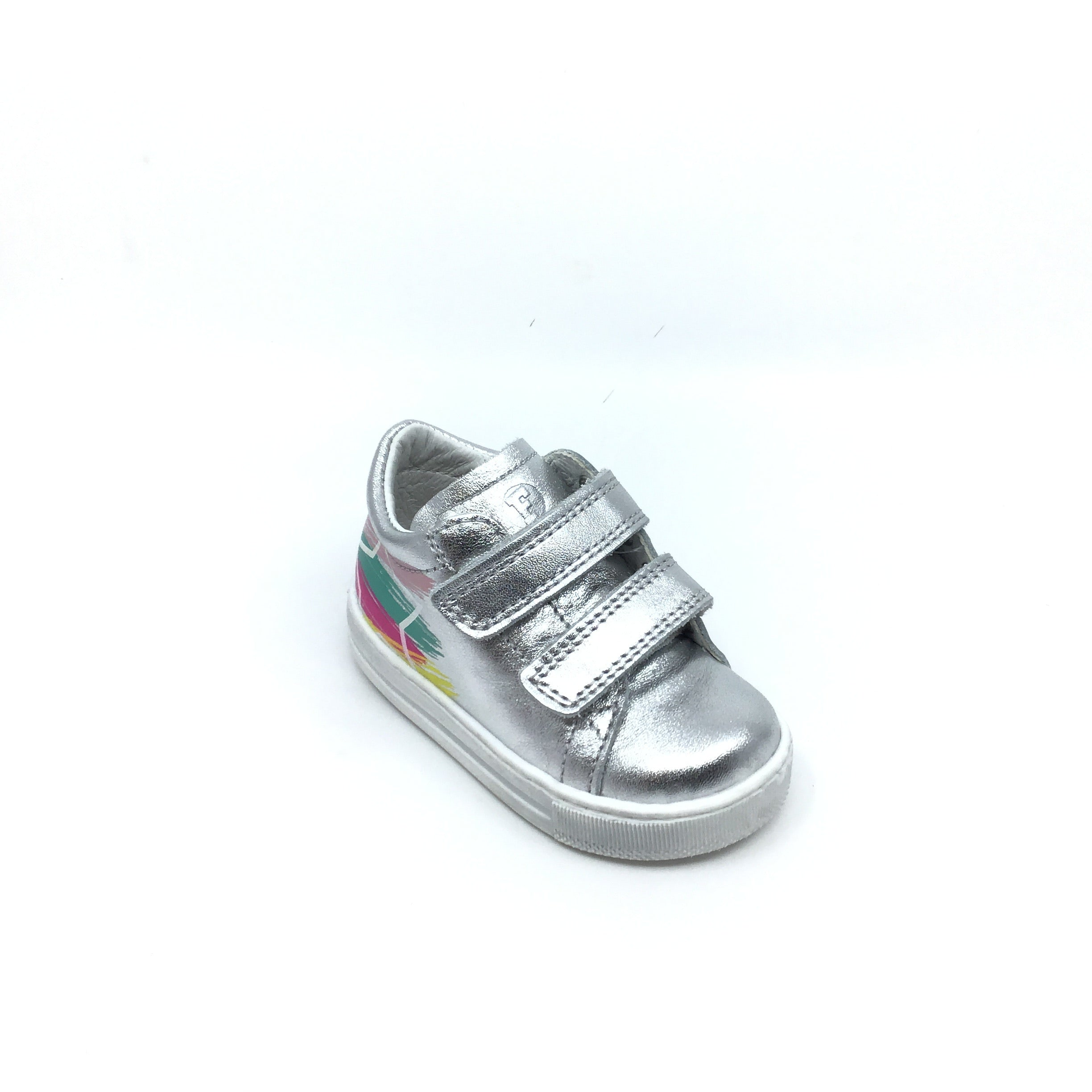 Falcotto Silver Double Velcro Sneaker witn Rainbow Star