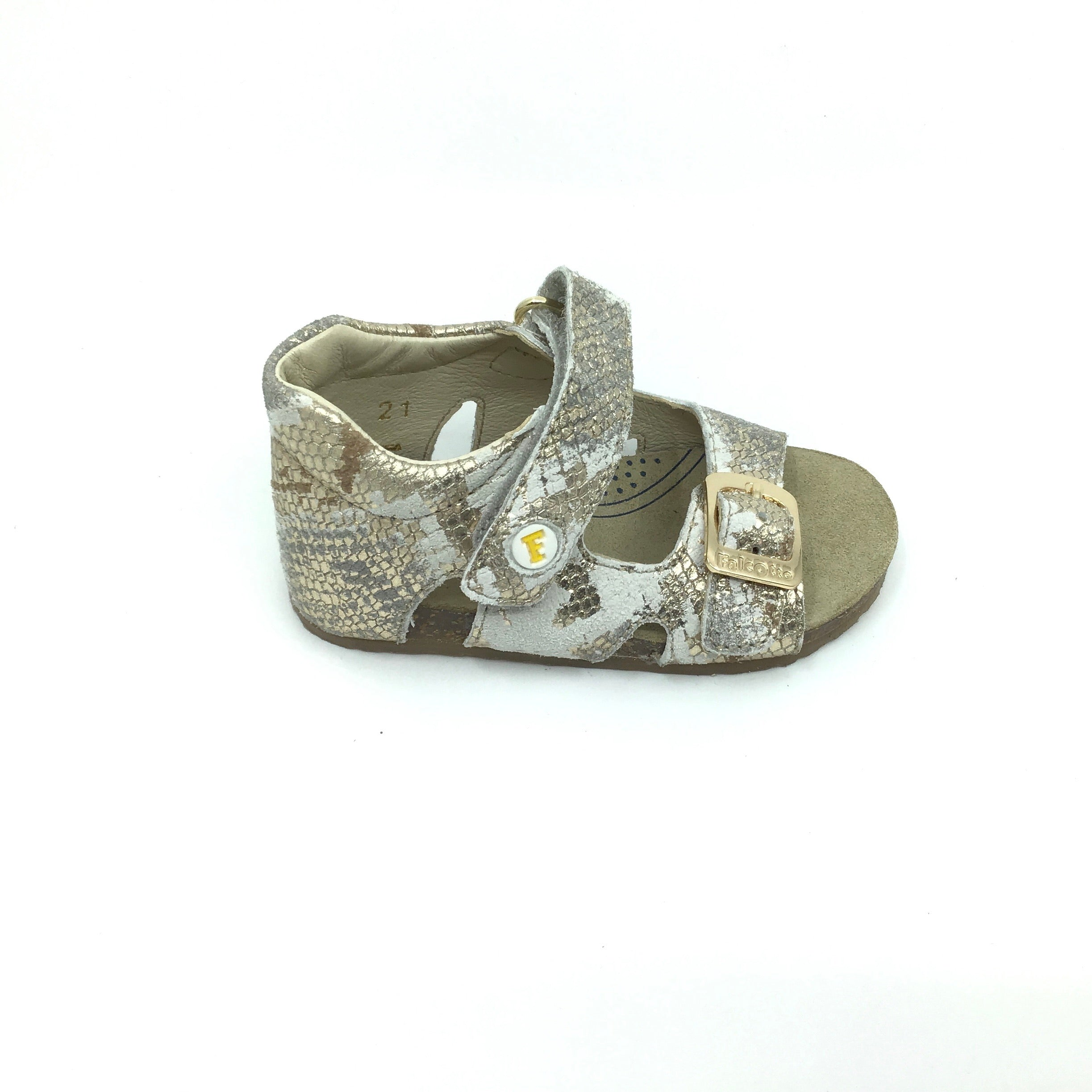 Falcotto Gold Print Buckle Sandal