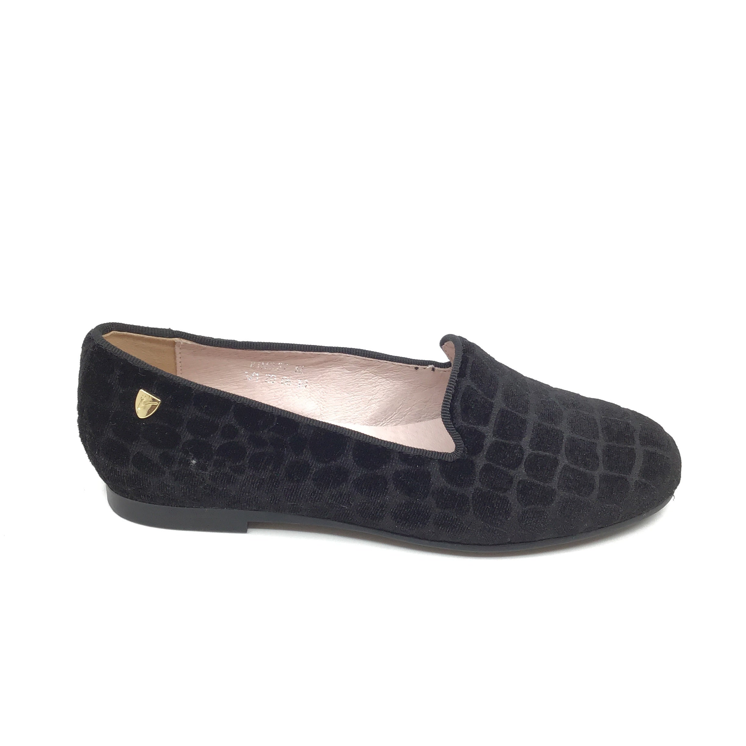 Venettini Black Stone Velvet Slip On